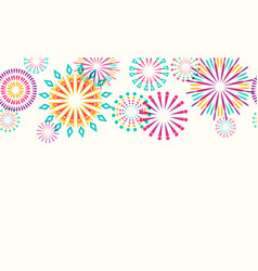 firework border seamless background vector image