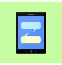 Flat style touch pad with chat vector