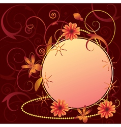 floral ornate frame vector image