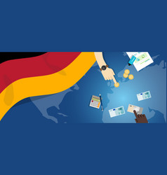 German economy fiscal money trade concept vector