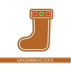 gingerbread christmas sock vector image