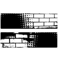 grunge brickwall banners vector image