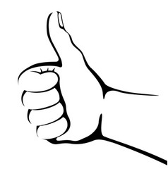 hand gestures lining draw vector image