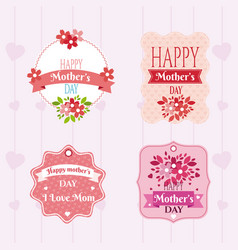 happy mothers day emblems vector image