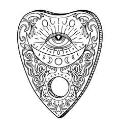 Heart-shaped planchette for spirit talking board vector