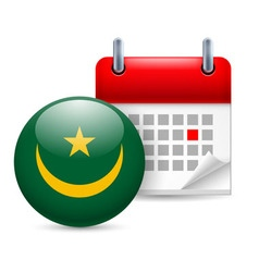Icon of national day in mauritania vector image