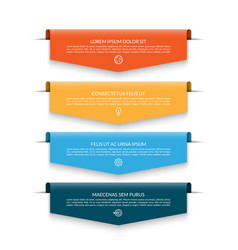 infographic banner with 4 colorful arrows vector image