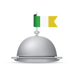 Ireland flag platter vector