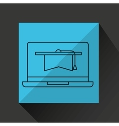 Learn online book graduation vector