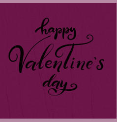 lettering for happy valentines day vector image