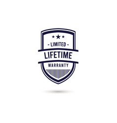 Limited lifetime warranty logo icon template vector