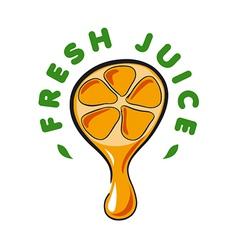 Logo drop juice from orange vector
