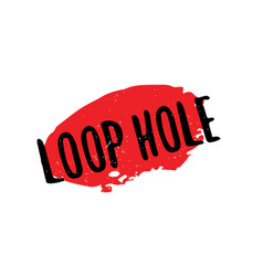 Loop hole rubber stamp vector
