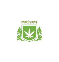 marijuana logo vector image