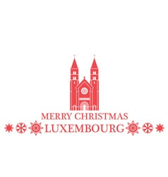 Merry Christmas Luxembourg vector