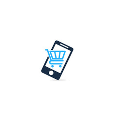 mobile shopping logo icon design vector image