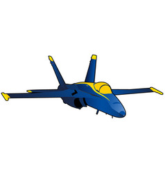 Modern fighter jet vector