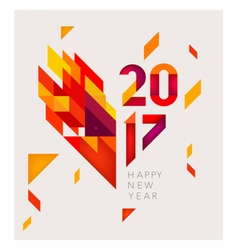 New Year 2017 Geometric abstract background vector