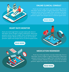 online medical services flat isometric vector image
