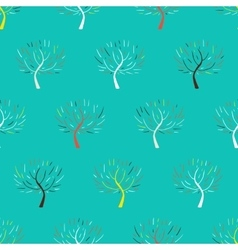 Pattern with colorful trees vector image