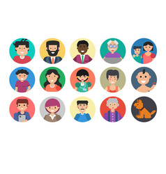 People faces avatar vector
