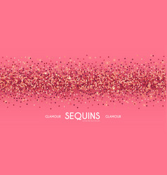 pink shining sequins abstract background glamour vector image