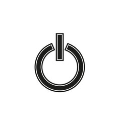 power button start technology symbol - switch off vector image