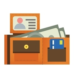 Purse wallet icon vector