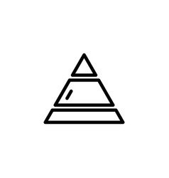 pyramid line icon in flat style for apps ui vector image