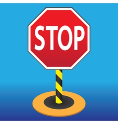 road sign stop vector image