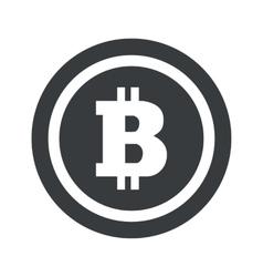 Round black bitcoin sign vector image