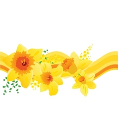 Seamless pattern with daffodils vector