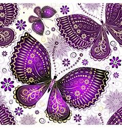 Seamless spring transparent pattern vector image