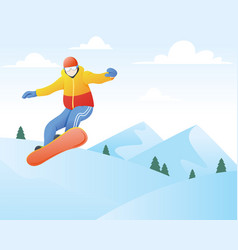 snowboarder winter sport and recreation winter vector image