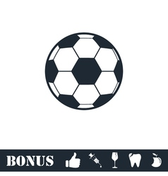 Soccer ball icon flat vector
