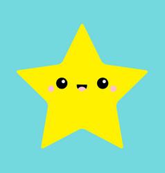 Starfish toy icon cute kawaii cartoon funny baby vector