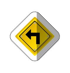 Sticker metallic realistic yellow diamond frame vector