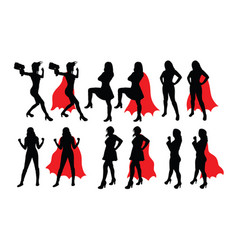 strong woman silhouettes vector image