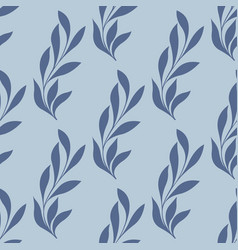Stylized branch on a blue background vector