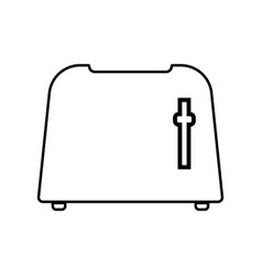 toaster black color icon vector image