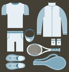 Top View Tennis Men Gears vector image vector image