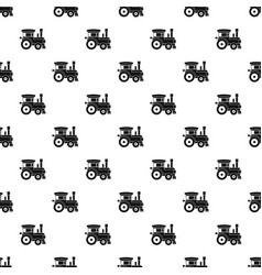 Toy train pattern vector