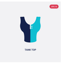 Two color tank top icon from clothes concept vector