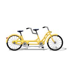 Urban family tandem bike flat urban bicycle vector