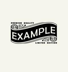 vintage elegant line art logo emdlem and monogram vector image