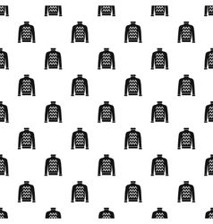 Warm sweater pattern simple style vector