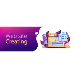 web development header or footer banner vector image