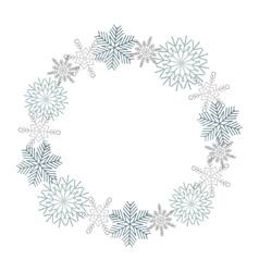 Winter snowflakes wreath vector image vector image