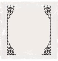calligraphic ornate vintage frame border vector image vector image