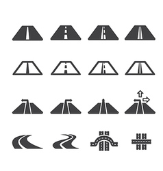 road icon set vector image